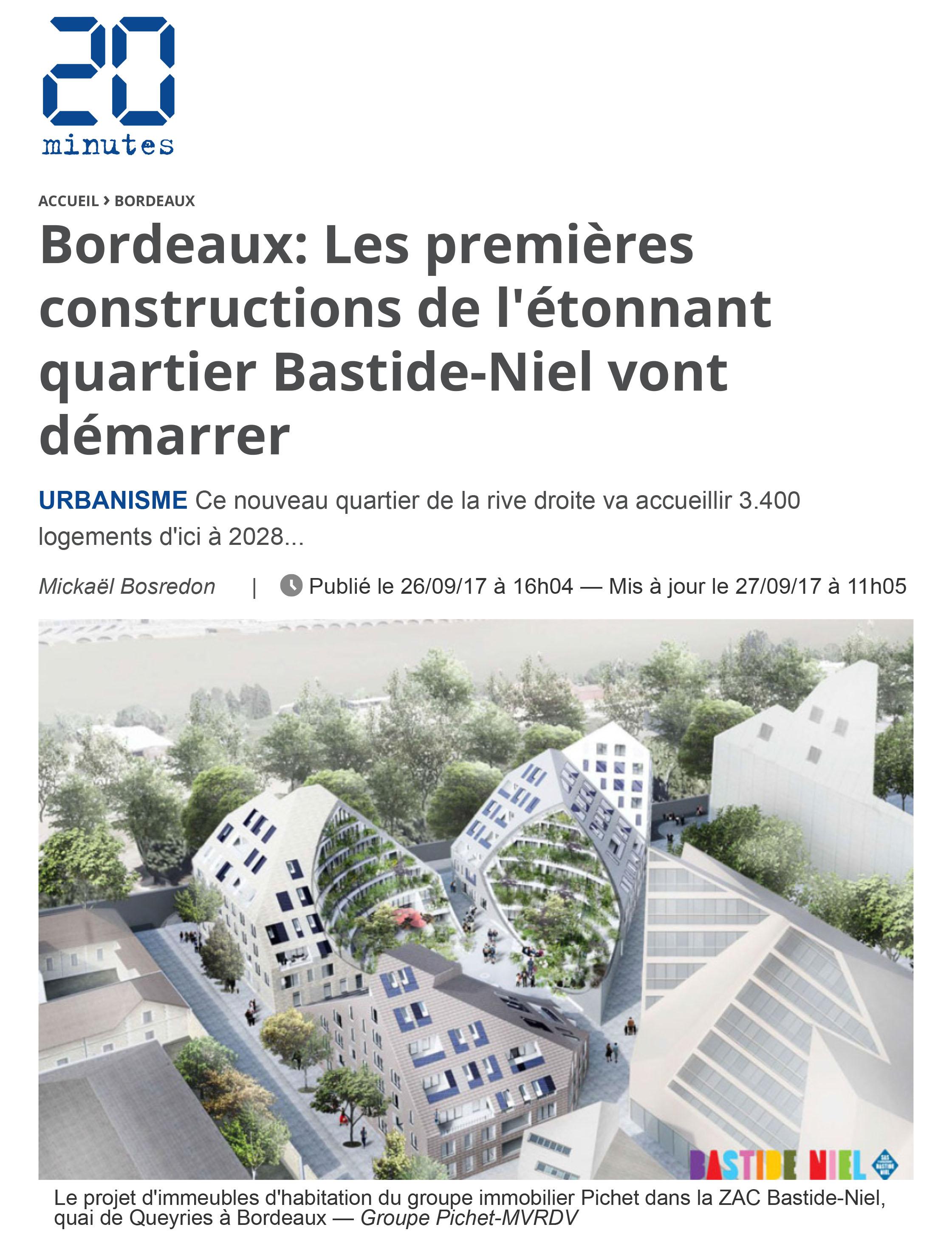 20 minutes bordeaux les premi res constructions de l - Residence les jardins de bordeaux bastide ...