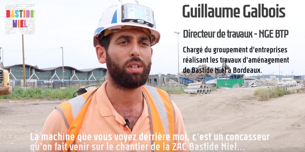 Chantier durable : les anciens revêtements du site Bastide Niel sont concassés puis réutilisés